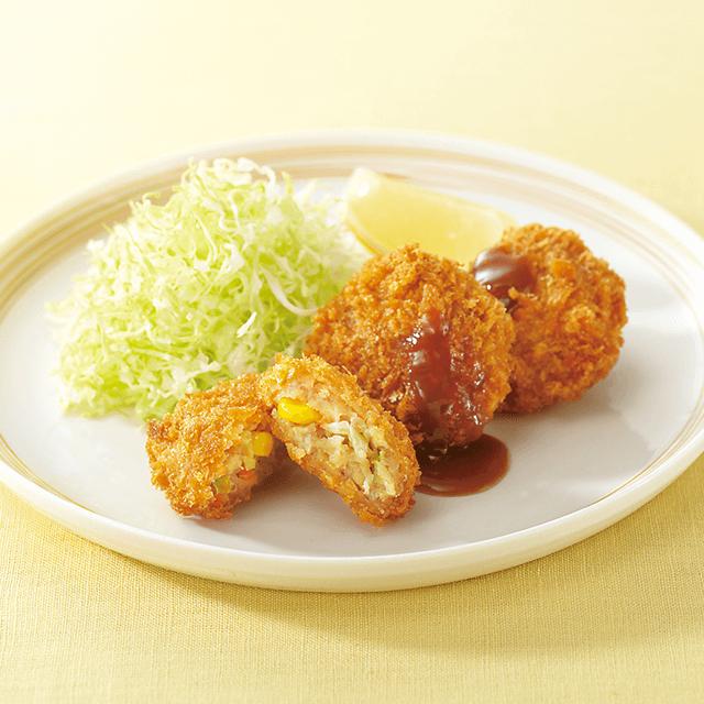 野菜入りメンチカツ(国産野菜使用)