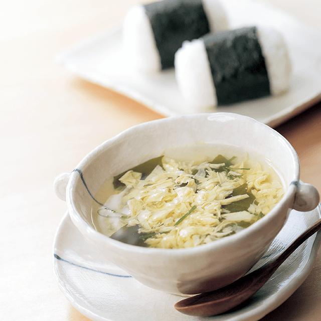 産直たまごのふわふわスープ