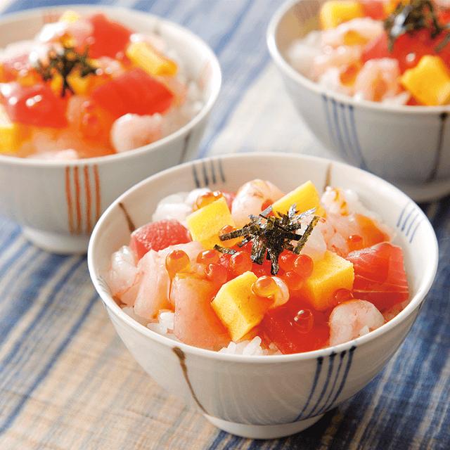彩コロ海鮮丼セット