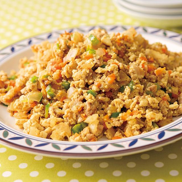 野菜たっぷり豆腐のドライカレーセット