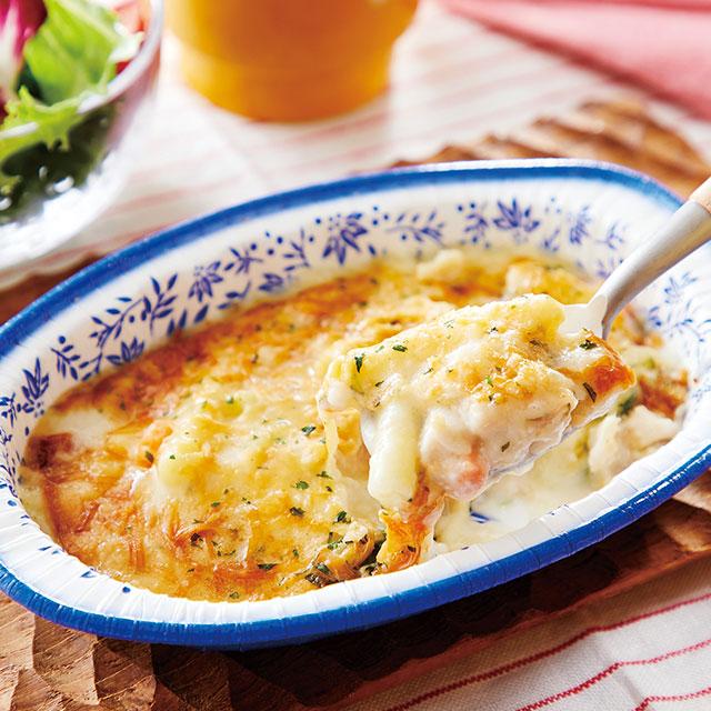 産直鶏と国産野菜のクリーミーグラタン